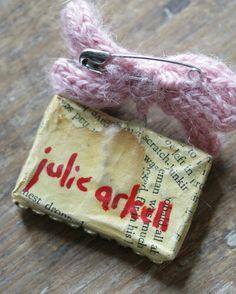 Reverse of 'cake' word brooch: Julie Arkell: photo Jen O'Connor: EarthAngelsStudios.com