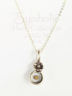 Faith Mustard Seed Necklace  Small round Resin by AllieMJewelry, $24.50