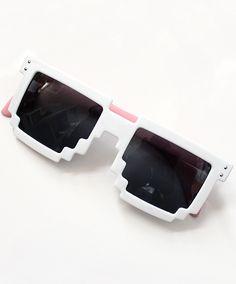 Fashion White Geometric Sunglasses 8.99