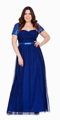 Vestidos azul rey para fiesta de noche