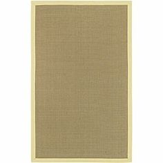 Hand-woven Chaitali Sisal Canary Yellow Border Jute Rug (8' x 10')