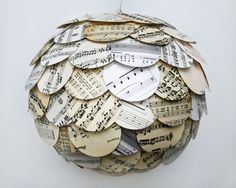 If made with Christmas sheet music.  Great ornament idea