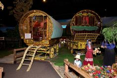 The largest exhibition of Romany Gypsy wagons in the country is being auctioned