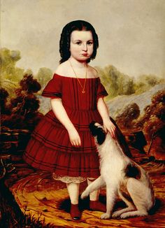 Portrait of Alice Lyons  Artist  John J. Hegler  Creation date  about 1855  Materials  oil on canvas  Dimensions  39 x 28 in.  Credit line  Gift of Roger Wolcott  Accession number  51.49
