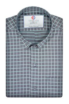 Mint Grey Windowpane - ₹2,800/-  This fabric is crafted in luxury Italian fabric milled from (Monti Tessitura) by the thread count of 1 ply by 120. #Business #Casual #Shirt #Shirts #Corporate #Fabrics #Luxury#Handcrafted #Custommade #Fashion #Style #Custom #Checks #Solids #Pastels #Checkered #Fun#Quirky #Men #Women #MenFashion #WomenFashion