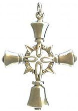 Large Handbell Cross Pendant - SS