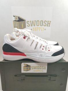 a386108ccc08 Details about Nike Zoom Vapor AJ3 SZ 8 Fire Red Air Jordan 3 Roger Federer  RF 709998-106 QS DS