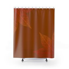 Maple leaf Light Brown Shower Curtains