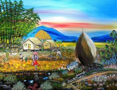 Bahay Kubo Philippines Canvas Print / Canvas Art by Anna Baker Paintings For Sale, Original Paintings, Art Paintings, Filipino Art, Bahay Kubo, Philippine Art, Flag Painting, Thing 1, Scene Image