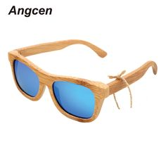 >> Click to Buy << Angcen 2017 New fashion Products au Retro Vintage Wood Lens Wooden Frame Handmade Men Women Glass Bamboo Sunglasses ZA03 #Affiliate