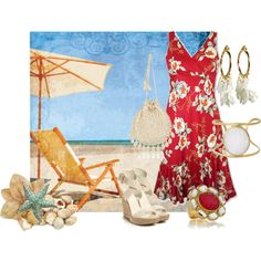 """kamuela tomato aolani floral hawaiian dress"" by aannggiiee on Polyvore"
