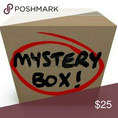 ~Mystery Clothing Box~ Baby, Toddler, Women, Men. Hello, thanks for stopping by! You will receive 5 items of random name brand shirts/tops/tanks/zip ups/ or sweaters in my name brand clothing Mystery box. Clothing sizes range from baby to Plus size. ( Please specify what size you'll be needing). All name brand clothing are in gently used, good condition. No rips, stains, holes or tears. I also have a 5 piece accessories Mystery box also.( Which can include handbags, wallets, make up bags…