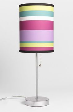 LAMP IN A BOX Pink Striped Table Lamp available at #Nordstrom