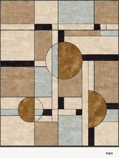 Carpet Runner Rods For Stairs Info: 9769410646 White Carpet, Diy Carpet, Carpet Tiles, Rugs On Carpet, Modern Carpet, Motif Art Deco, Art Deco Pattern, Carpet Design, Floor Design