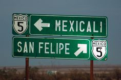 Mexicali, Mexico/Calexico, USA - one of the most interesting places i've ever been (a city on both boarders). did a passport run here once.