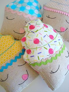 Cupcake Pillow Plushie. $14.00, via Etsy.