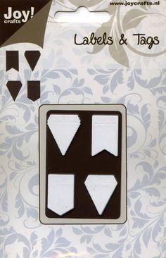 Joy!Crafts Cutting Stencil Labels & Tags Vlaggetjes (6003/0028)