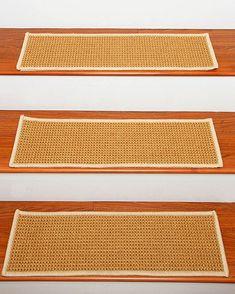 Somerset Sisal Carpet Stair Tread w/Serged Border, White