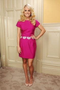 Carrie Underwood. She's gorgeous & such a cute look!