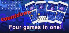 Word Game App is based on Countdown (Letters and Numbers) tv game. Challenging - several word and one number game to test and improve skills for all ages. Letter Games, Word Games, Longest Word, Daily Challenges, Game 4, Played Yourself, Matching Games, Letters And Numbers, Free Games