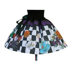 Mad Hatter Skirt Fantasy Clothing Mad Hatters Tea Party Alice in... (2,620 DOP) ❤ liked on Polyvore featuring silver, skirts and women's clothing