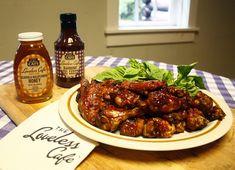 Loveless Honey Blackberry BBQ Chicken Wings