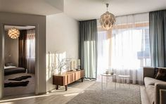 byt Copenhagen, Divider, Curtains, Bedroom, Living Rooms, Spaces, Furniture, Lighting, Home Decor