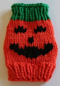 Jack-O-Lantern Dog Sweater