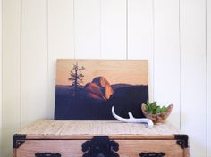 Add a rustic touch to your home with wood wall art.