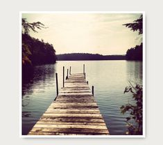 Empty Dock Photo Lake Photography lake brown by semisweetstudios, $30.00