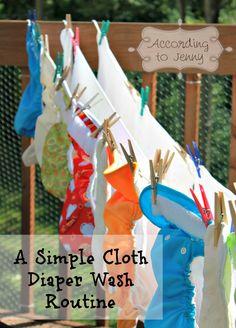 Cloth Diaper Wash Routine.