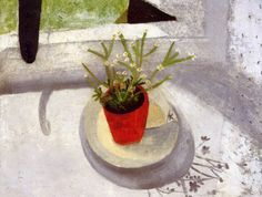 winifred nicholson-- red flower pot Winifred Nicholson, Meaningful Paintings, Fashion Painting, Still Life Art, Naive Art, Illustration Art, Illustrations, Red Flowers, Flower Art