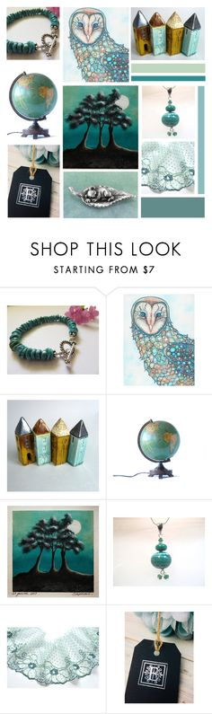 """""""Turquoise Blues"""" by inspiredbyten ❤ liked on Polyvore featuring vintage"""