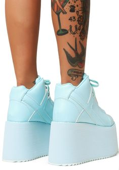 Y.R.U. Arctic Qozmo 2 Platform Sneakers Cotton Candy Clouds, Lolita Style, Boy London, Blue Sneakers, Platform Sneakers, Sky High, Lolita Fashion, Arctic, Light Blue