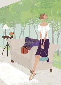 Yuko Yoshioka Client work #illustration #fashionillustration #girlsillustration #drawing #yukoyoshioka #Bulletinmagazinecover #イラストレーション #吉岡ゆうこ #amanaimages