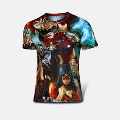 High quality Avengers inspired 3D T-Shirts Sport Gym Compression Shirt