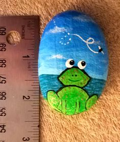Frog and Friend Rock by LexRocks on Etsy