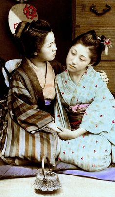 Circa 1890s, Japan.  Hand-colored albumen photograph.  Image via Okinawa Soba ob Flickr