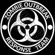 Zombie Outbreak Response Team walking dead evil vinyl decal sticker 4x4. $4.00, via Etsy.