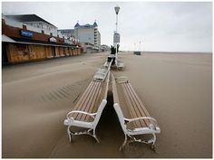 Abandoned Sand Covered Ocean City after Hurricane Sandy / October 2012