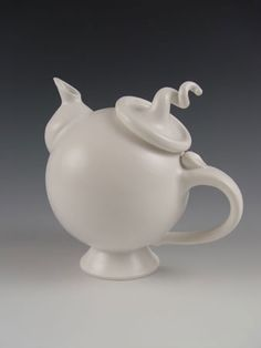 """""""Signature Teapot"""" Created by Lilach Lotan  Wheel-thrown and hand-built glazed porcelain teapot."""