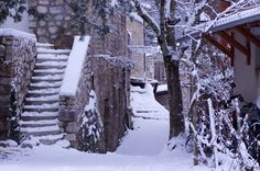 Neige au vieux village