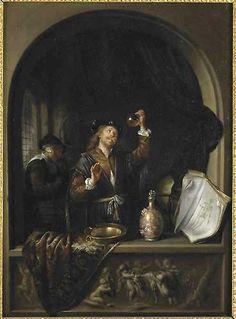 Gerrit Dou, De dokter, 1653, olieverf op paneel, 49,3 x 37 cm.