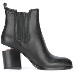 Alexander Wang 'Gabriella' ankle boots ($801) ❤ liked on Polyvore featuring shoes, boots, ankle booties, black, black boots, short black boots, black ankle boots, leather booties and black leather booties