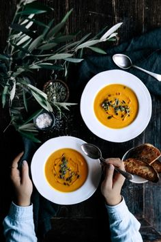 Pumpkin, Turmeric & Ginger Soup | Gather & Feast