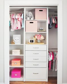 """5,386 Likes, 41 Comments - Decor For Kids   Home Decor (@decor_for_kids) on Instagram: """"Organization is on point in this adorable closet😍😍 Credit to @foxyoxie"""""""