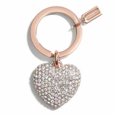 Rose Gold heart keychain // Stocking Stuffers She'll love!