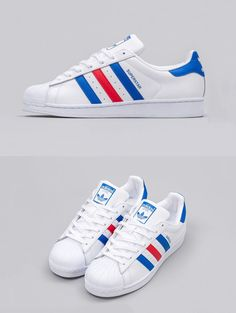 new style 2f179 30800 adidas Superstar Tri-Color Adidas Sneakers, Adidas Nmd, Nike Shoes