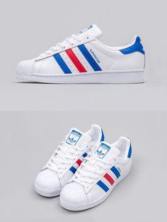 finest selection d2705 7d9b3  adidas  Superstar  Tri-Color Super Star Adidas, Adidas Superstar Shoes,