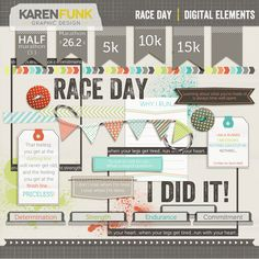 Running Digital Elements - Digital Scrapbook kit - Race Day         September 04, 2014 at 04:44PM